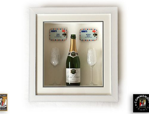 Champagne Bottle with Two Glasses