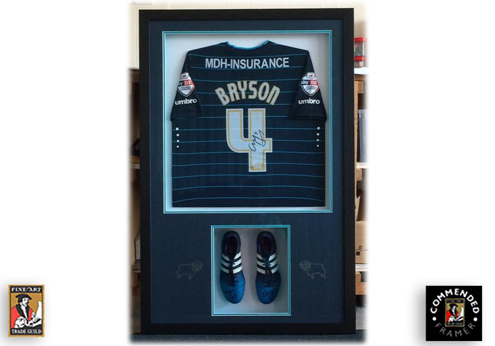 Craig Bryson Football Shirt Framed with Boots
